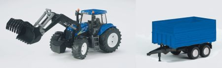 Bruder 1993 Traktor New Holland +vlek